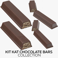 kit kat chocolate bars 3D model