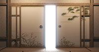 Door wood 3D