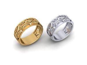 rings stones gems 3D