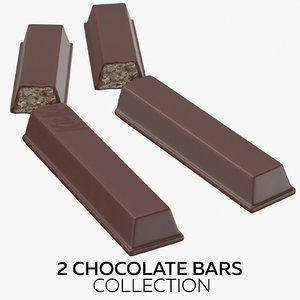 3D 2 chocolate bars model