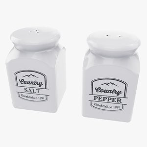 3D model ceramic salt pepper