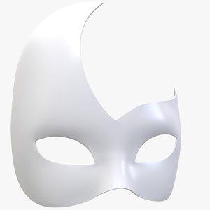 mask wolf civette rondine 3D