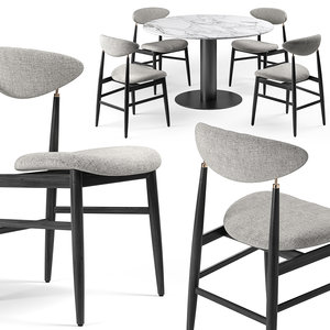 3D dining table chairs gubi