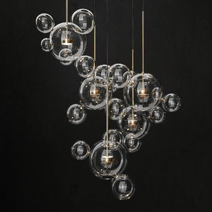 3D giopato coombes bolle chandelier