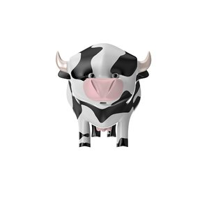3D cow toy