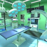 medical operation room 3D model