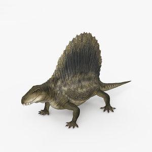 3D dimetrodon animal model