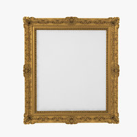 realistic baroque picture frame 3D