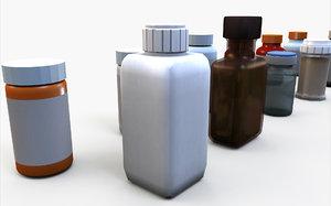 medicine bottle 3D