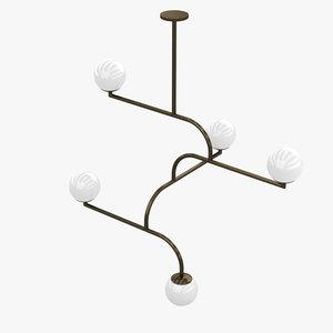 3D ceiling light fixture 002 model