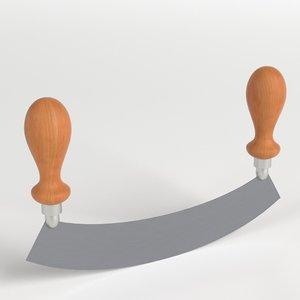 3D long mincing knife model
