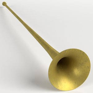 3D long trumpet model