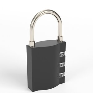 luggage lock 3D model