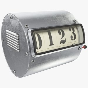 mechanical counter 3D model
