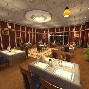 scene fine dining restaurant model
