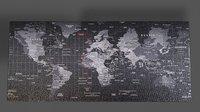 World Map Desk Mat 4k
