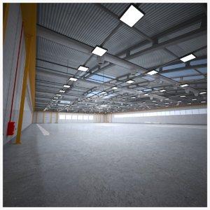 3D model plane hangar