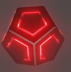 3D cube emp grenade