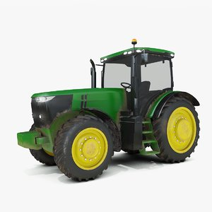 generic utility farming tractor 3D