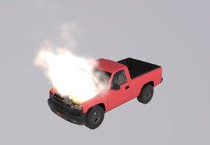 3D pickup truck engine