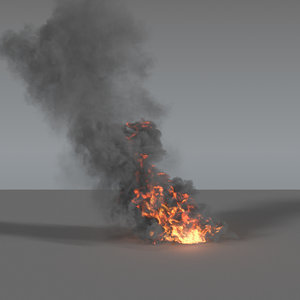 3D model smoke column vdb