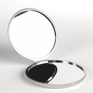 3D makeup pocket mirror model