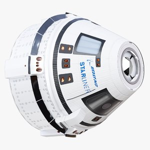 3D cst-100 space capsule boeing