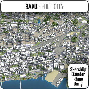 city baku surrounding area model