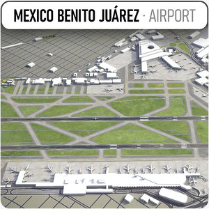 3D mexico international airport model