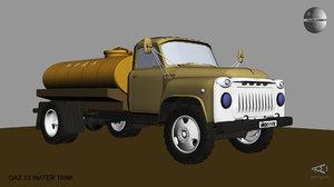 3D model gaz 53 water tank