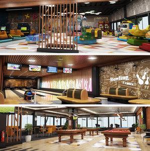 3D big center interior design