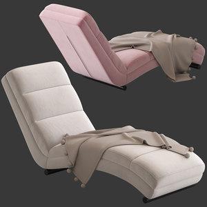 mercer reid california chaise 3D model