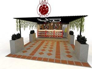 3D butcher shop carniceria