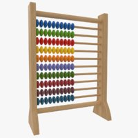 abacus wooden educational toy 3D model