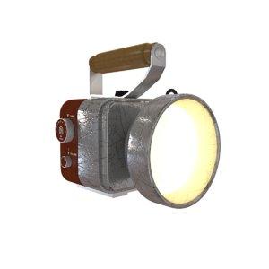 flashlight light flash 3D