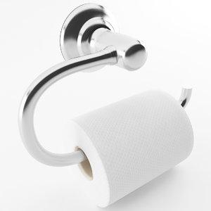 3D model toilet paper holder