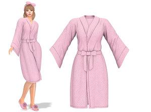 female tied bathrobe 3D model