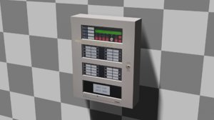 wall electrical box 3D model