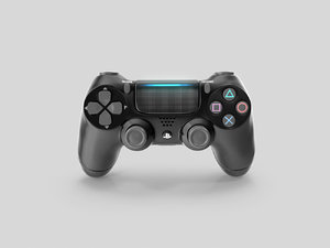 3D dualshock 4 wireless controller model