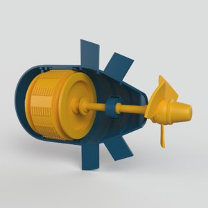 hydroelectric power station model