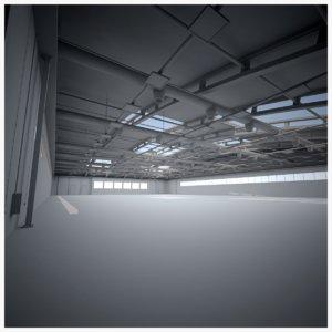 3D plane hangar ut model