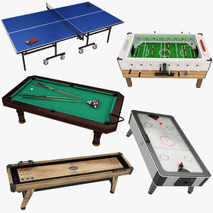 3D table games 1 billiard model