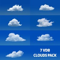 3D VDB CLOUDS - 7PACK