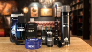 men s bathroom set model