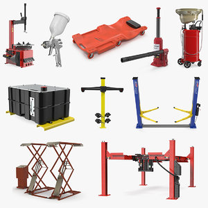 3D garage equipment 3 model
