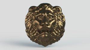 sculpture lion head 3D model