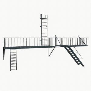 3D model escape 2 architectural