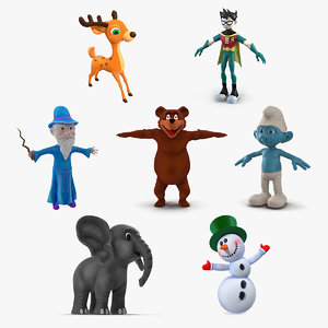 3D cartoon characters 4
