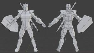 male knight mesh 3D model