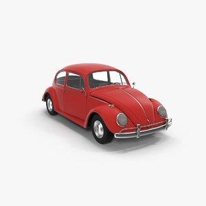 3D model volkswagen fusca